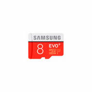 Карта памяти Samsung microSD EVO Plus 80MB/S 8GB + SD adapter
